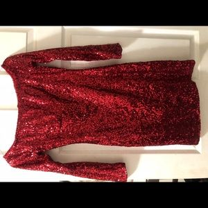 Red sequin dress |